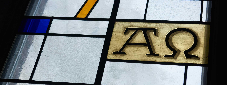 Kirchenfenster Detail Impressum